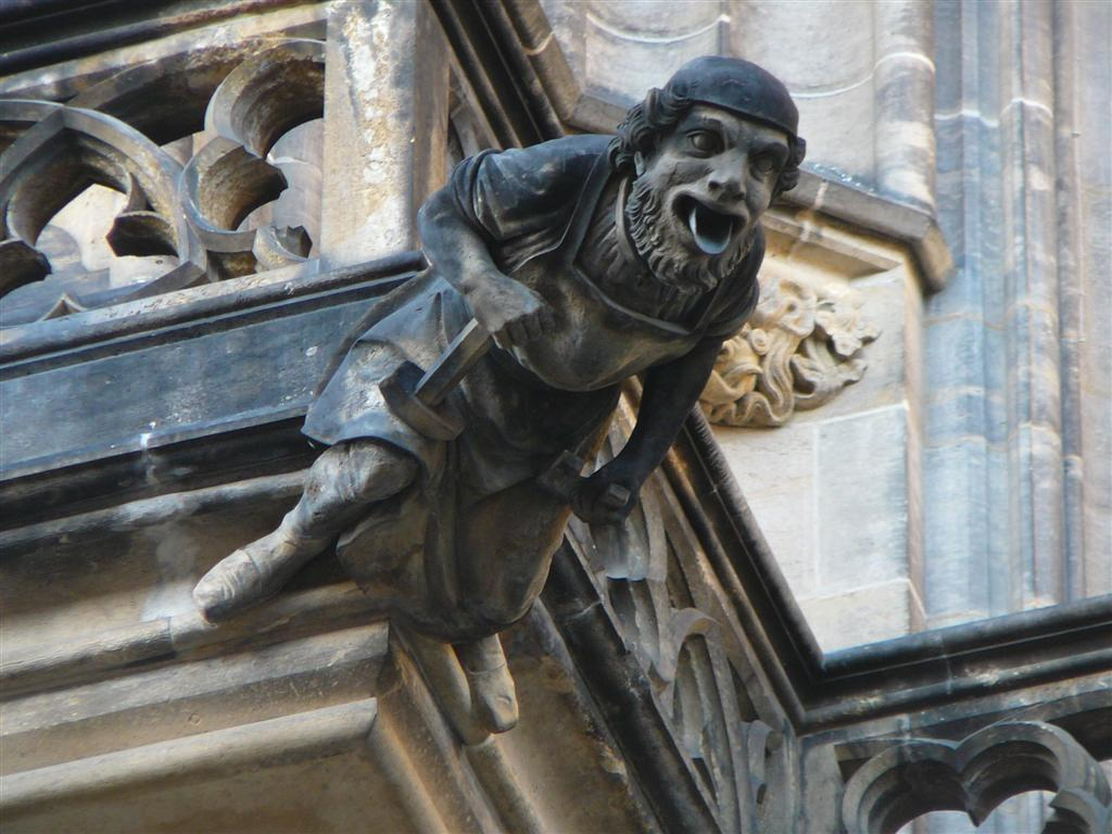 Most Of The Gargoyles On St Vitus Cathedral Are Sticking Out There Tongues Which Was A Common Way Depicting Death In Past And Convenient